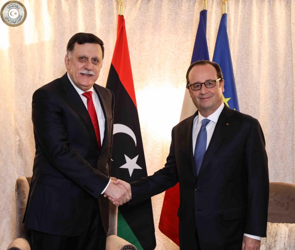 صورة أولاند: ندعم جهود المصالحة الوطنية في ليبيا