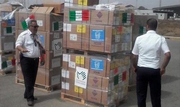 """صورة شحنة دواء إيطالية إلى """"معيتيقة"""" تكفي  10 آلاف ليبي"""