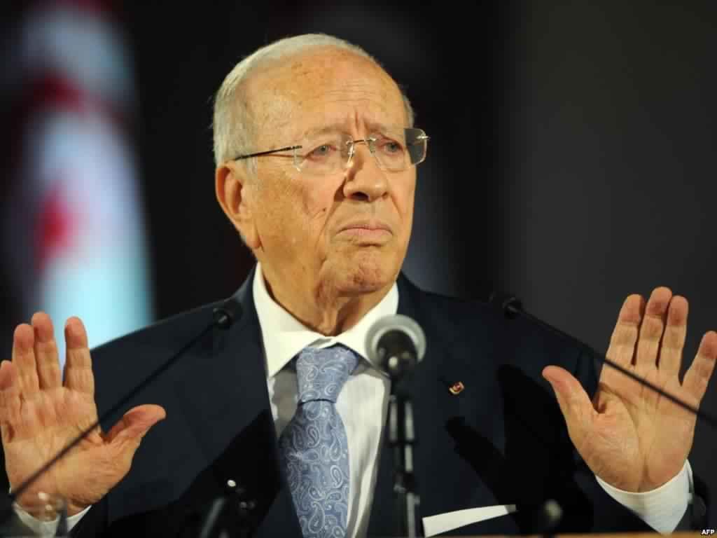 صورة الرئيس التونسي: ساعدنا الليبيين على التخلص من القذافي