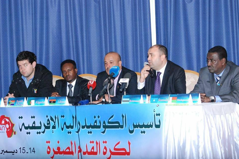 """صورة """"ليبيا تشارك"""" بتأسيس اتحاد أفريقيا لكرة القدم المصغرة"""