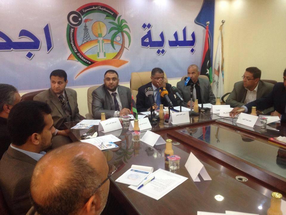 "Photo of اجتماع بإجخرّة بين عمداء البلديات و ""حكم محلي- المؤقتة"""