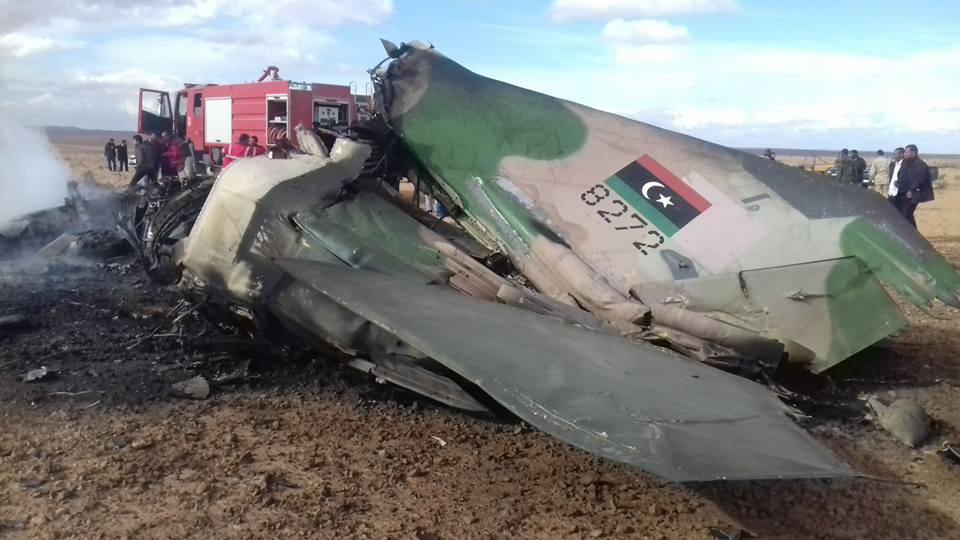 سقوط طائرة حربية قرب ترهونة
