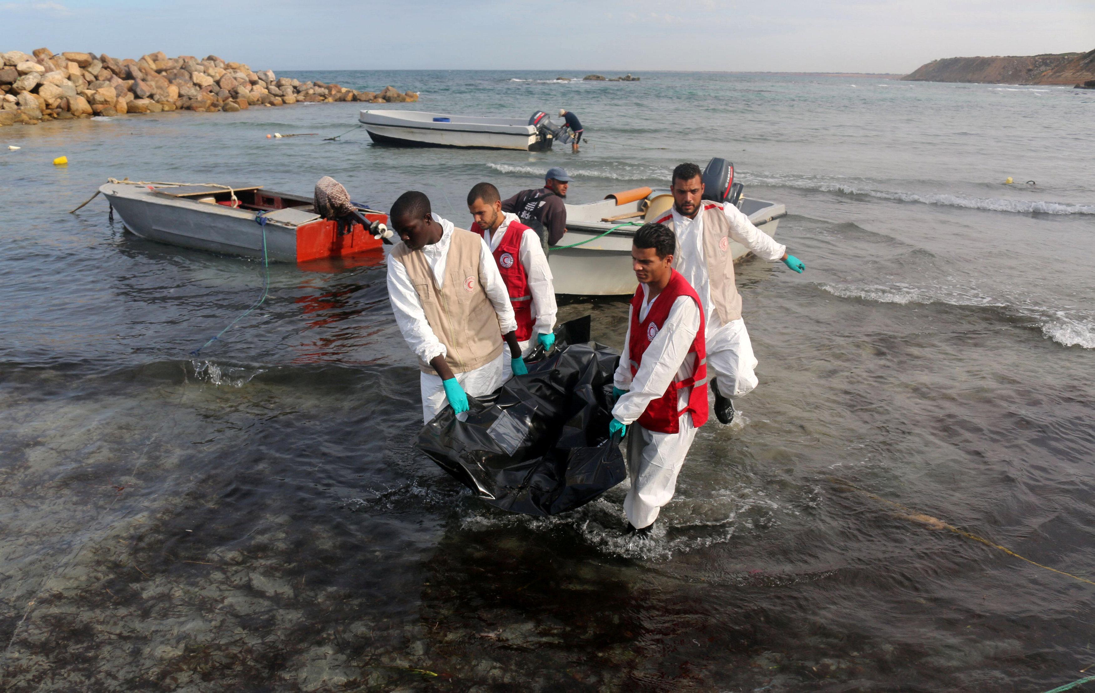 جثث المهاجرين