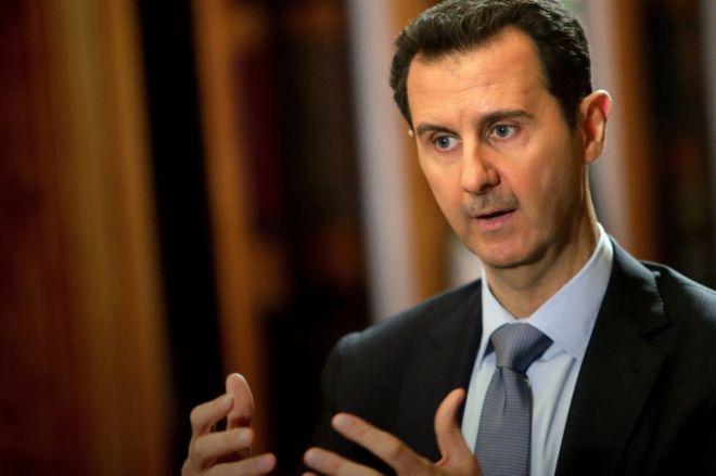 "Photo of الأسد ""صامت"" في لقاء جمعه مع برلمانيين أروبيين وروس"