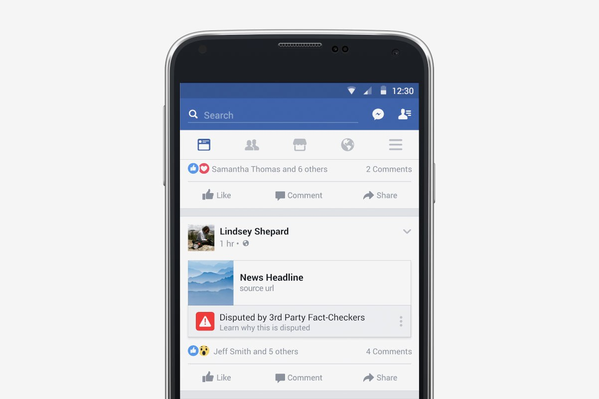 فيسبوك الأخبار الزائفة