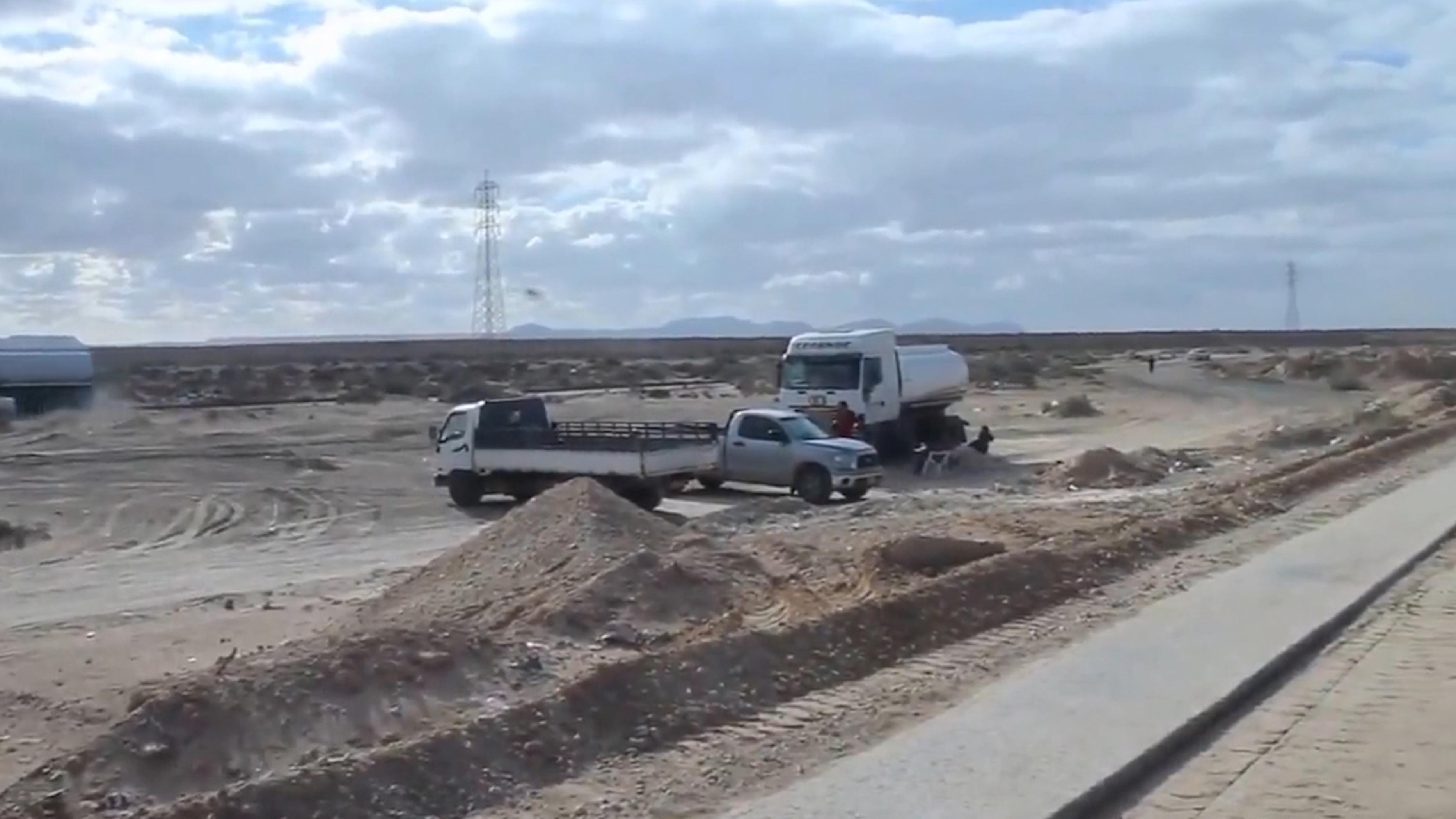 صيانة طريق الجوش