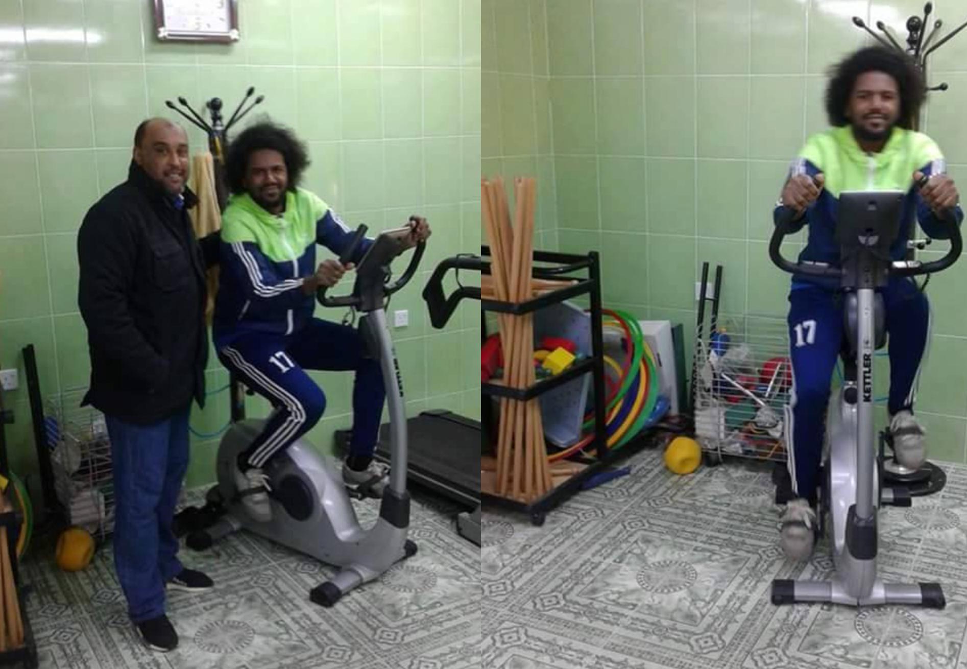 لاعب الهلال أبوبكر المغربي