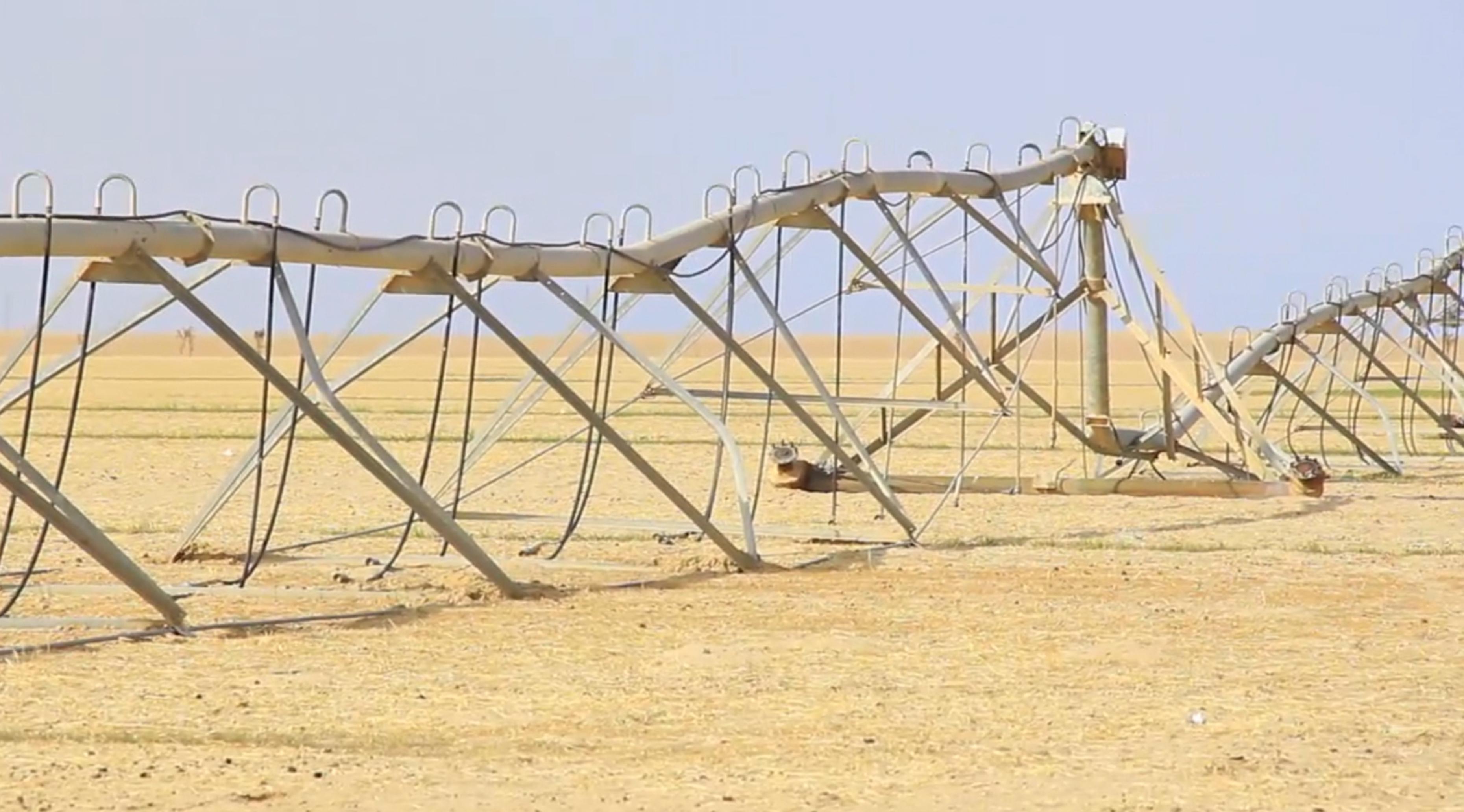 """صورة تحذير من انهيار """"مشروع الصحابي"""" في جالو"""