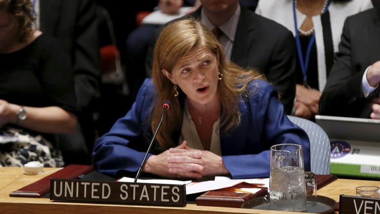 سامنثا باور مندوبة الولايات المتحدة الأميركية لدى منظمة الأمم المتحدة