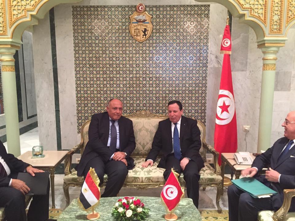 """صورة اتفاق """"مصري تونسي"""" على ضرورة رفع المعاناة عن الليبيين"""