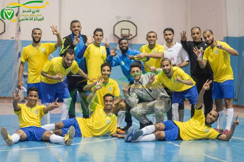 "Photo of النصر يفوز على الأولمبي وديا بـ""قدم الصالات"""