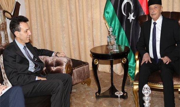 عقيلة صالح والسفير الإيطالي
