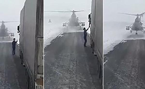 Photo of مقطع فيديو صادم. لماذا هبطت الطائرة في الشارع؟