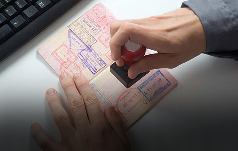 ختم جواز سفر تأشيرة