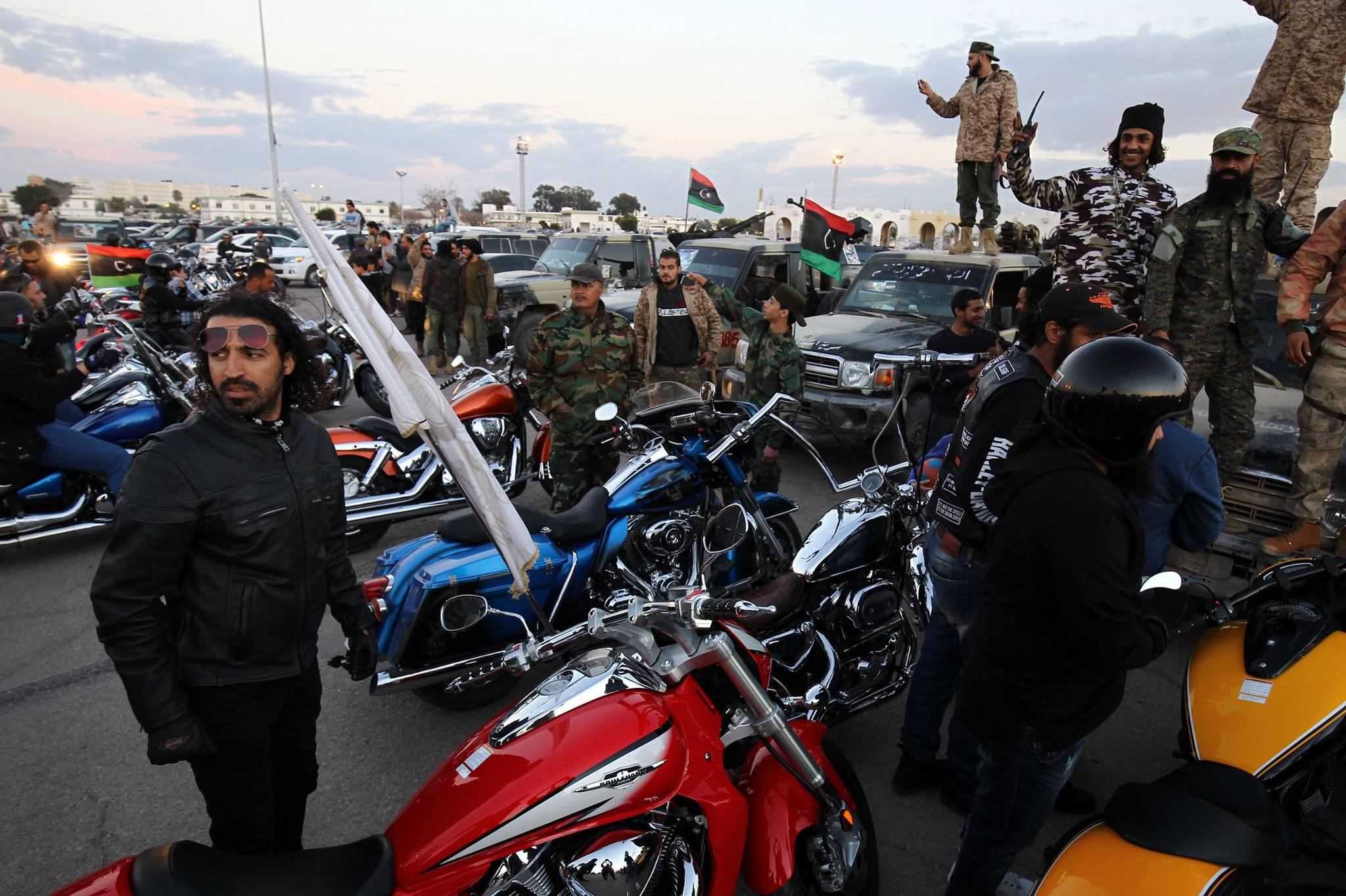 """صورة """"الكيش"""" تحتضن احتفال أهالي بنغازي بـ""""التحرير"""""""