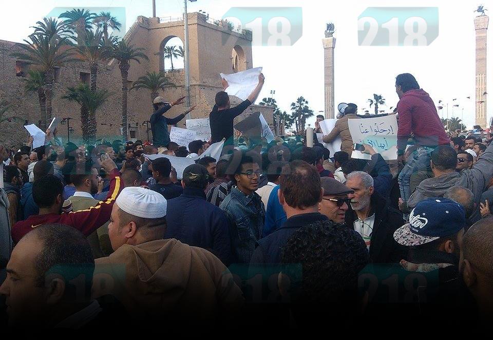 مظاهرات في طرابلس