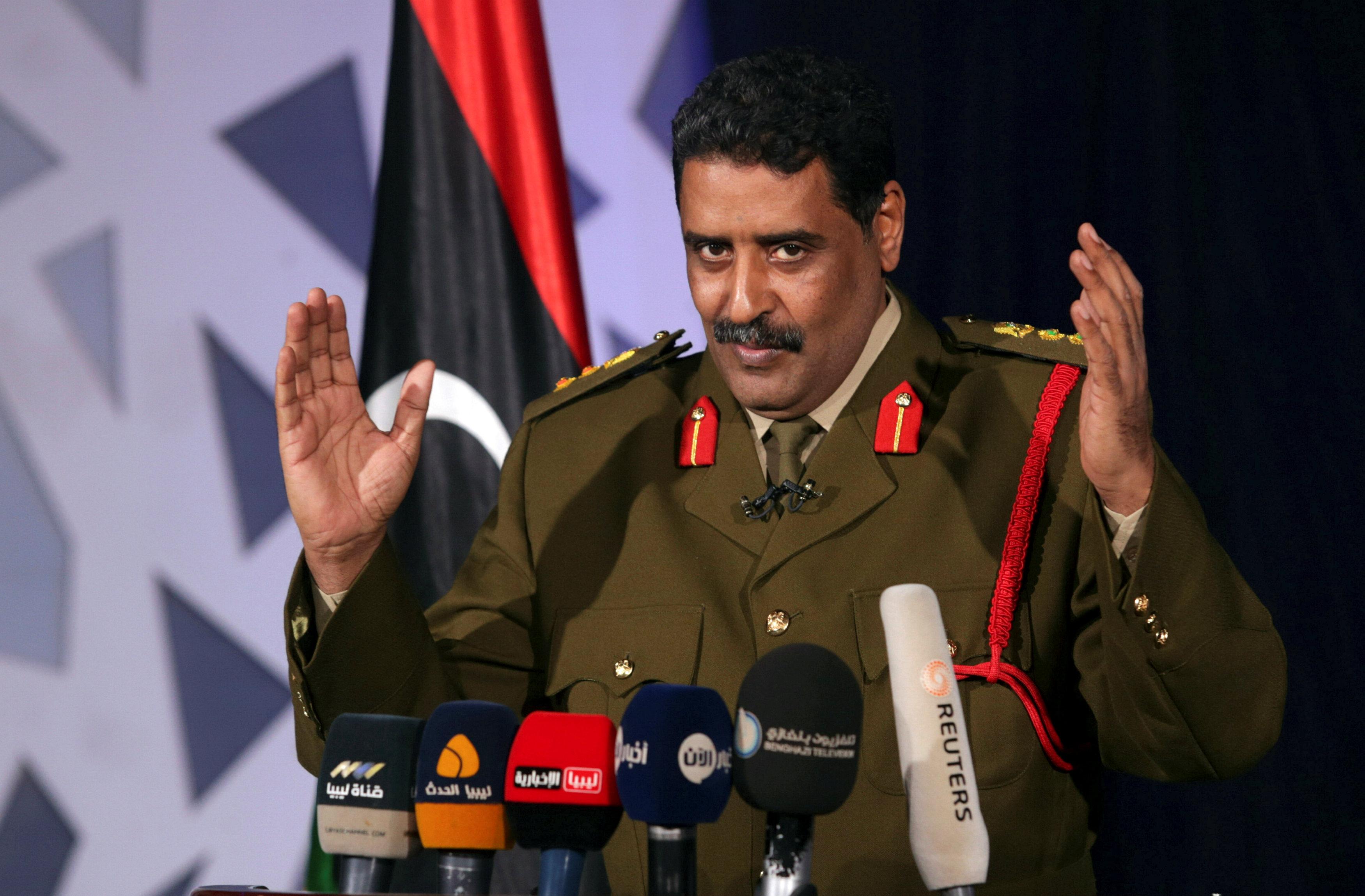الناطق باسم الجيش الوطني العميد أحمد المسمارى