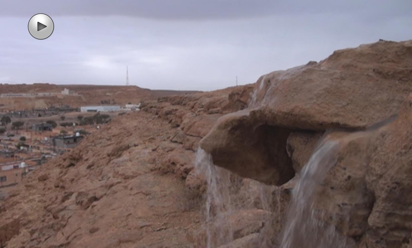 "Photo of ""تحذير"" من سيول وانجرافات على طريق طرابلس سبها"