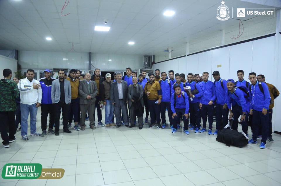 الأخضر يصل طرابلس للمشاركة ببطولة الأهلي الودية