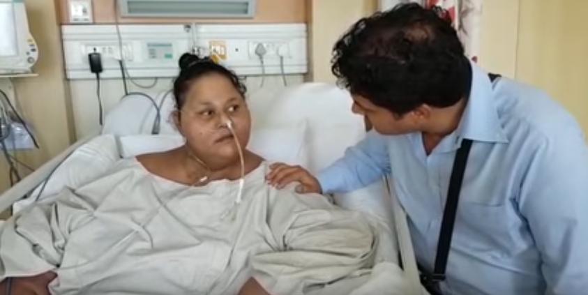 """صورة شاهد.. المصرية إيمان في أول فيديو بعد فقدانها """"نصف وزنها"""""""