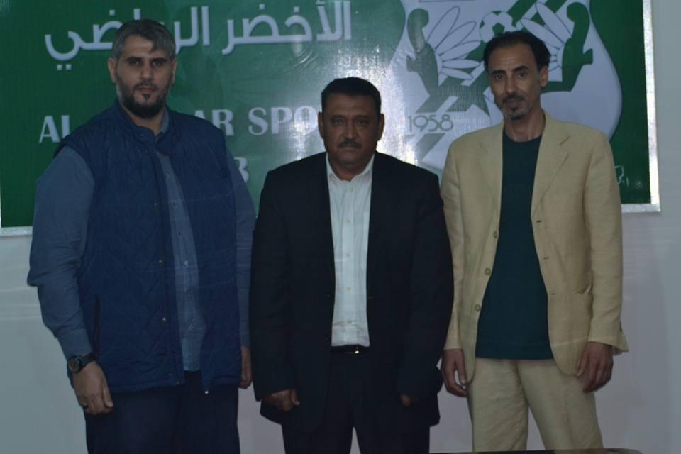 رئيس نادي الأخضر يلتقي المدرب الحبيب امبارك