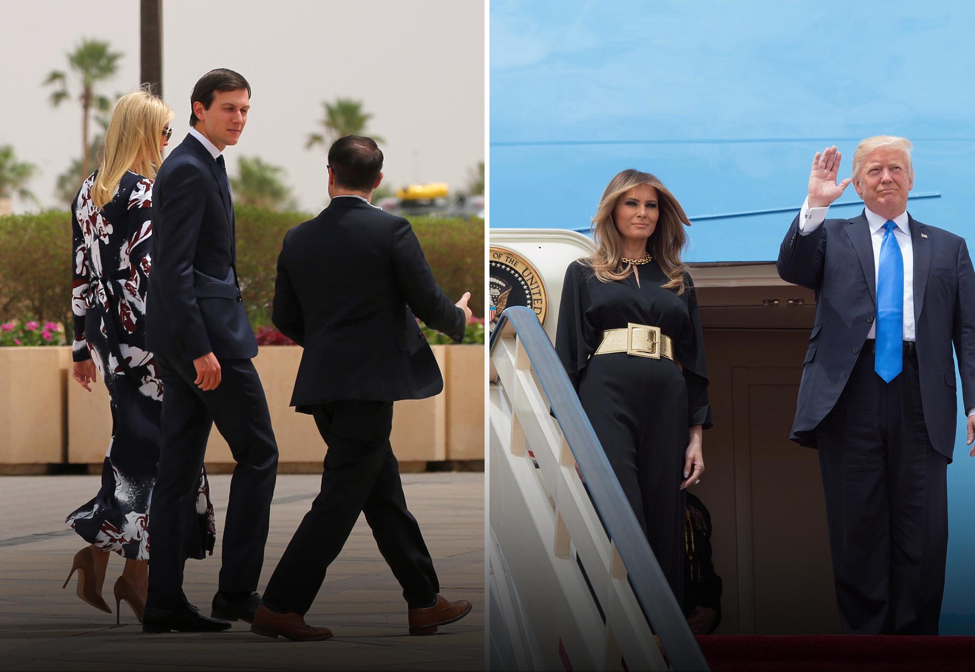 """Photo of ميلانيا وإيفانكا ترامب """"ردّتا التحية"""" بـ""""إطلالة محتشمة"""". شاهد"""