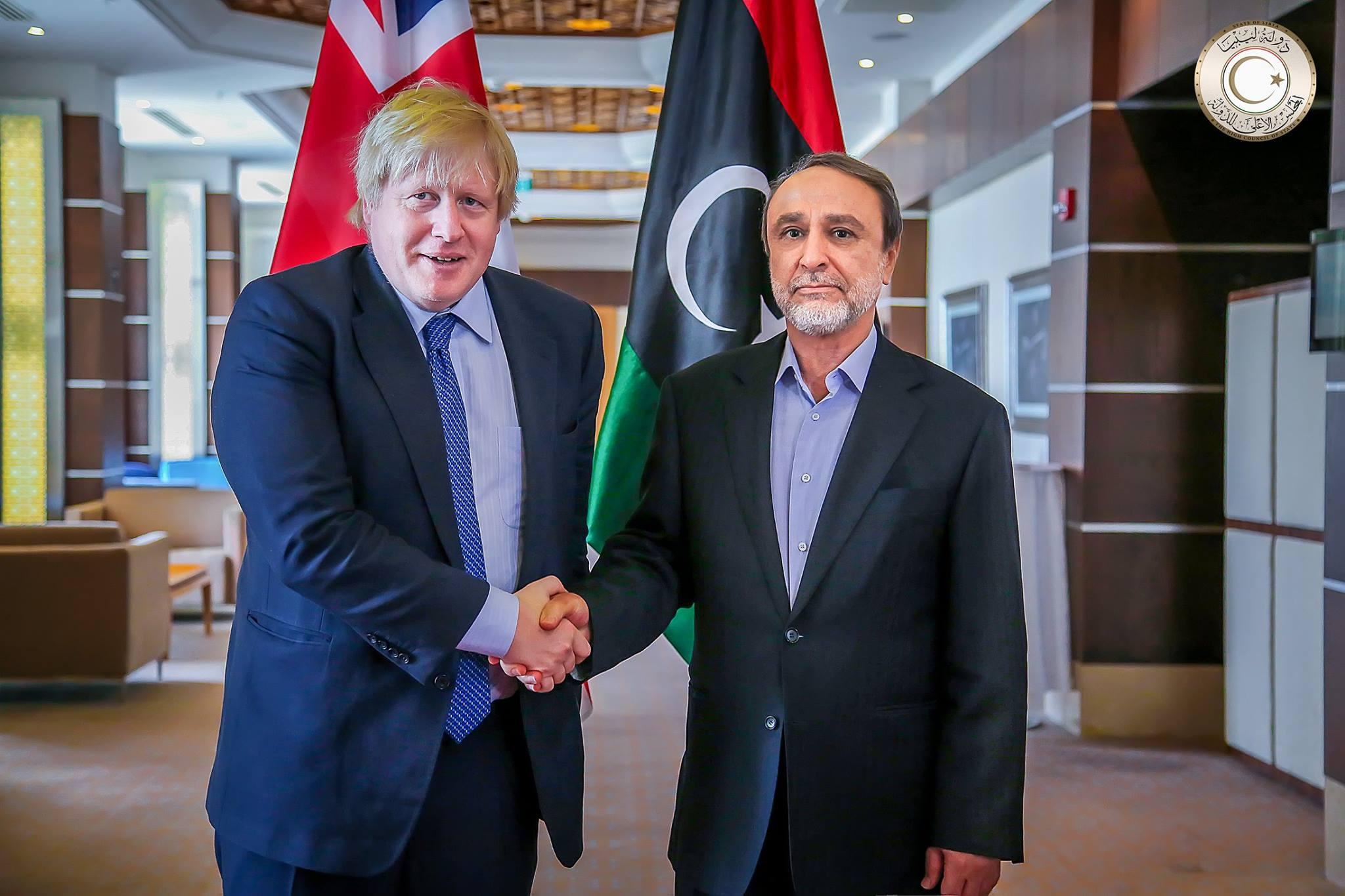 """Photo of جونسون للسويحلي: ندعم مفاوضات مُباشرة بين """"الاستشاري والنواب"""""""