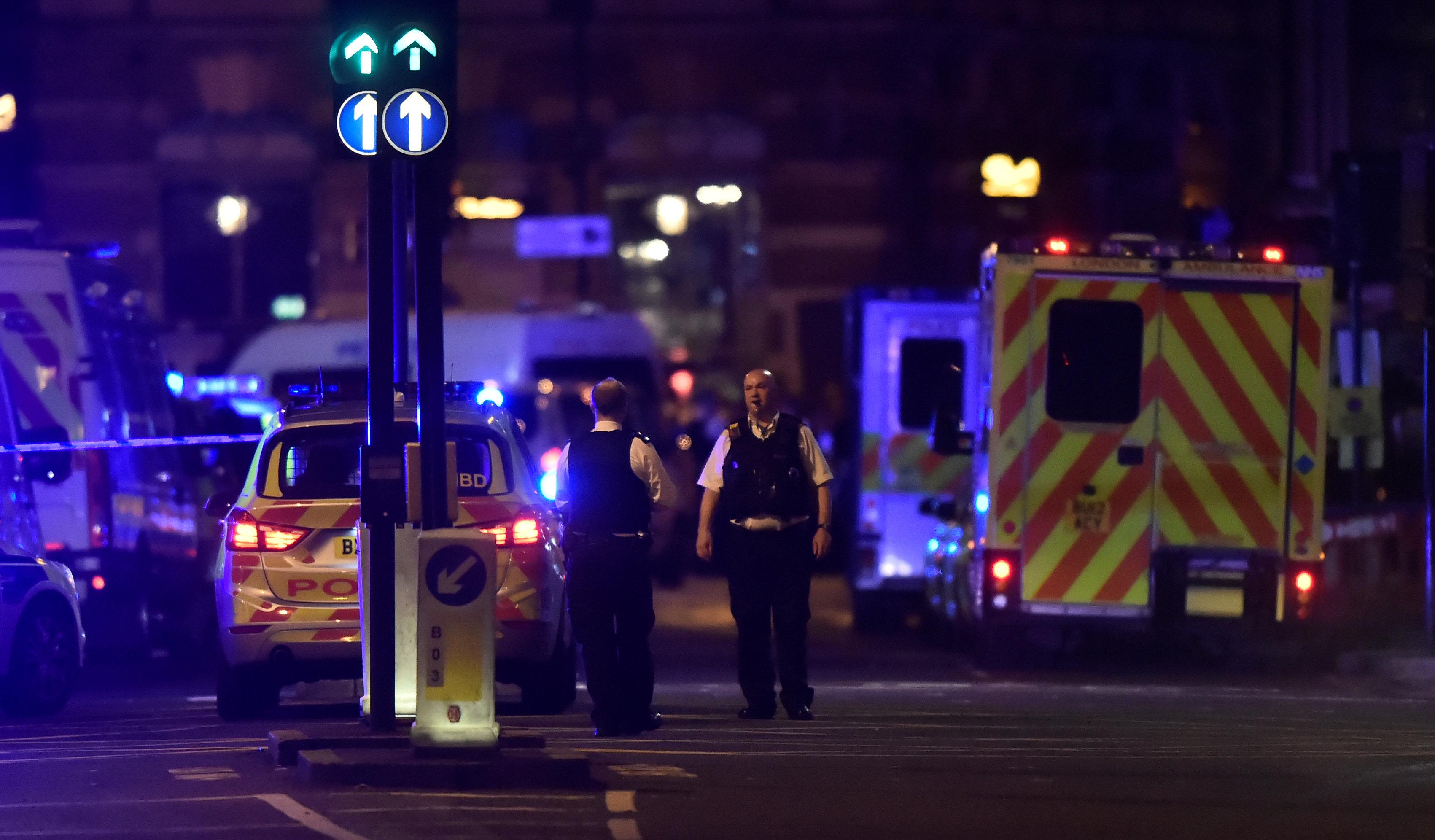 حادث على جسر لندن
