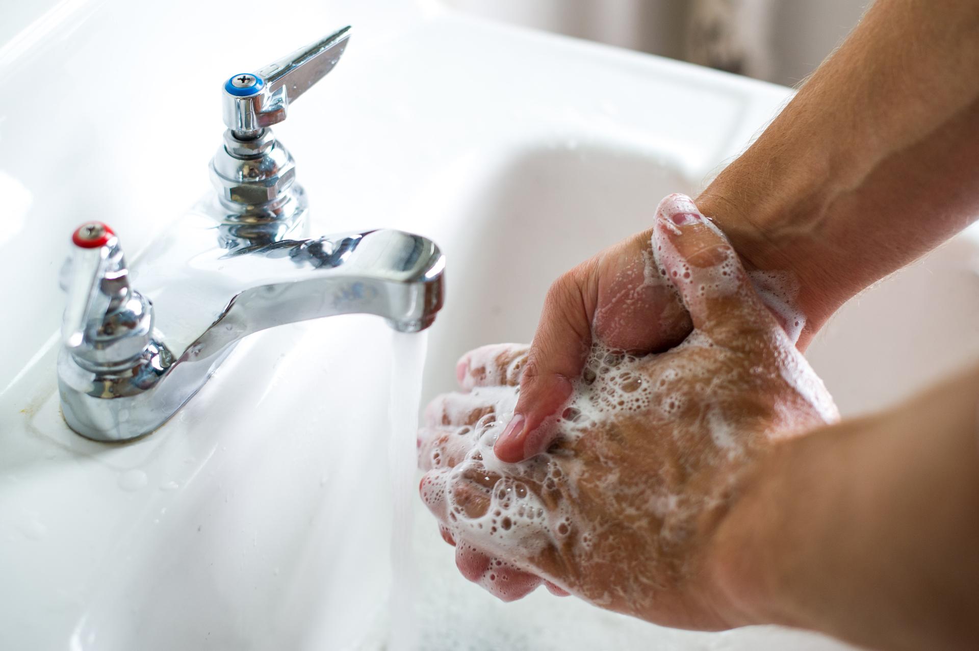 غسل اليدين