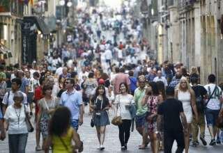 السياح في برشلونة