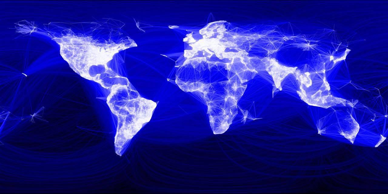 صورة توضح مستخدمين فيسبوك حول العالم