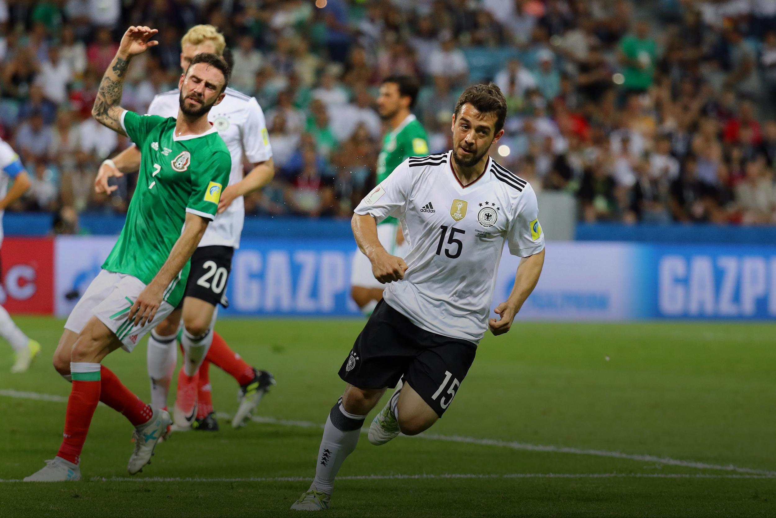 مبارة المنتخب الألماني المكسيكي