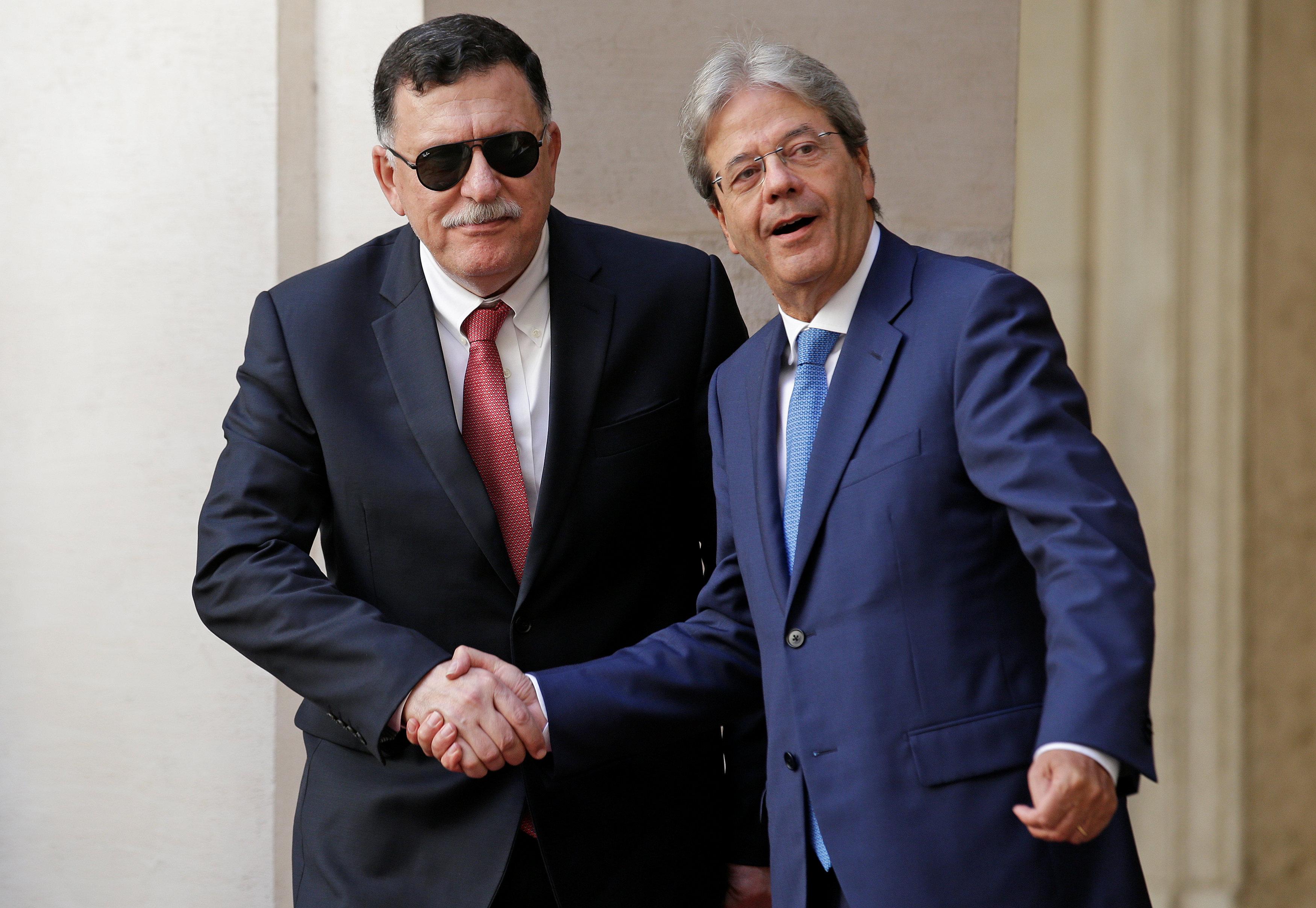 اتفاق روما - السراج و جنتليوني