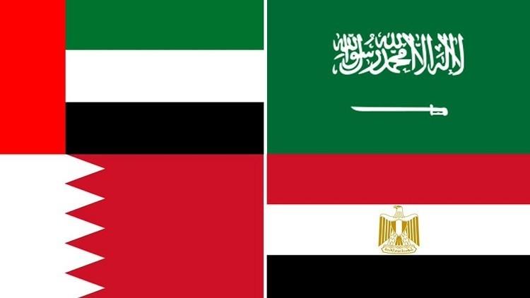 الدول الأربعة المقاطعة لقطر