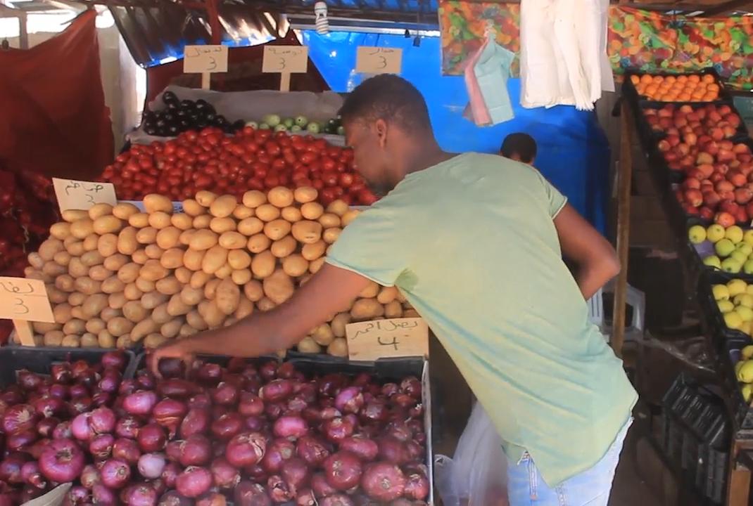 سعر الخضرة والفاكهة في القطرون