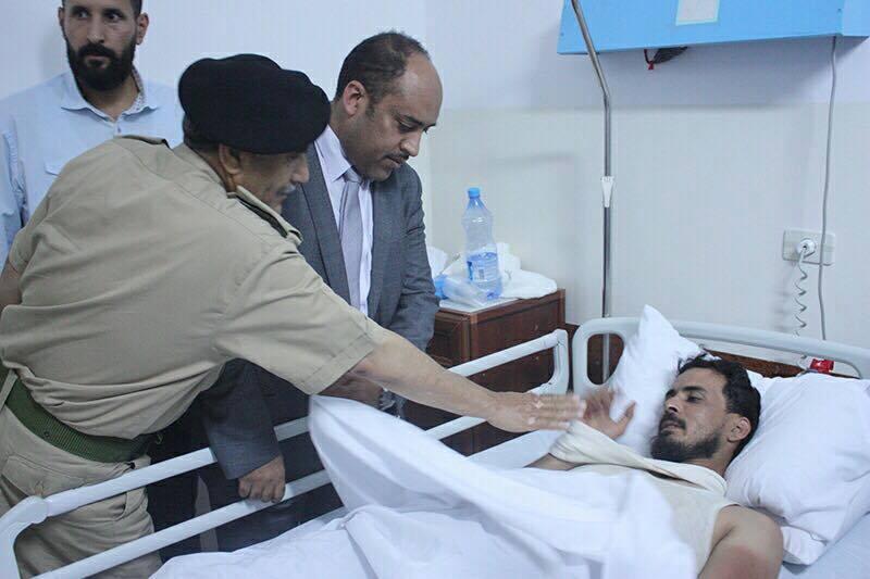 صحة الوفاق تزور جرحى القره بوللي