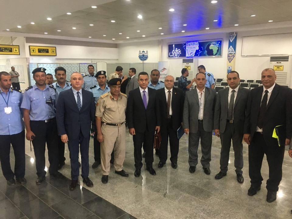وفد الطيران المصري يصل بنغازي