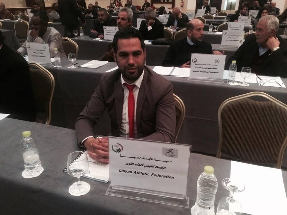 الأمين العام للاتحاد الليبي لألعاب القوى وليد امبارك