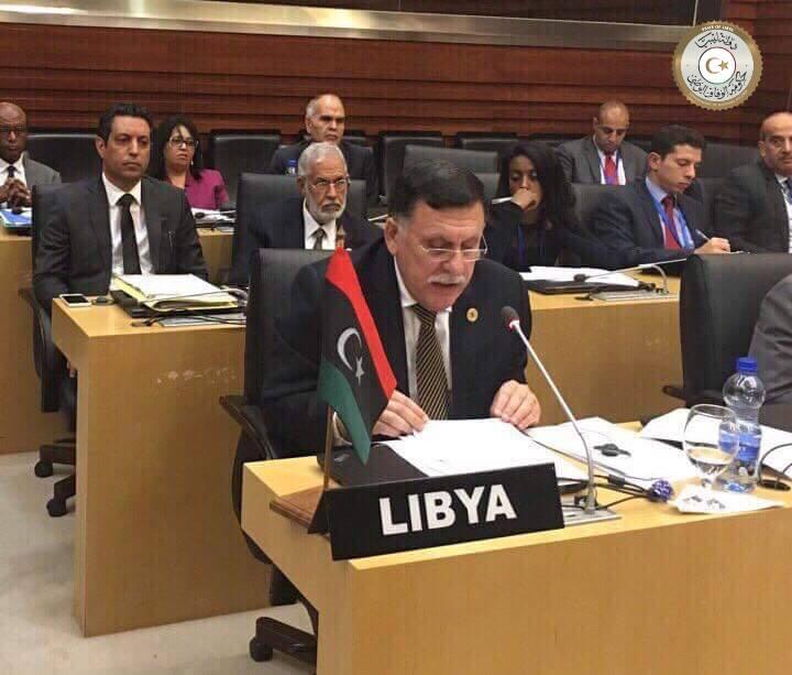 """صورة السراج: التفاوض هو """"المخرج الوحيد"""" لأزمة ليبيا"""