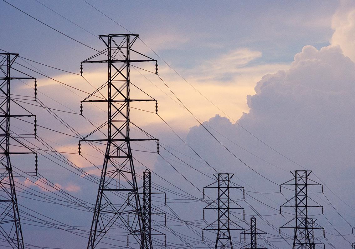 خطوط الطاقة الكهربائية