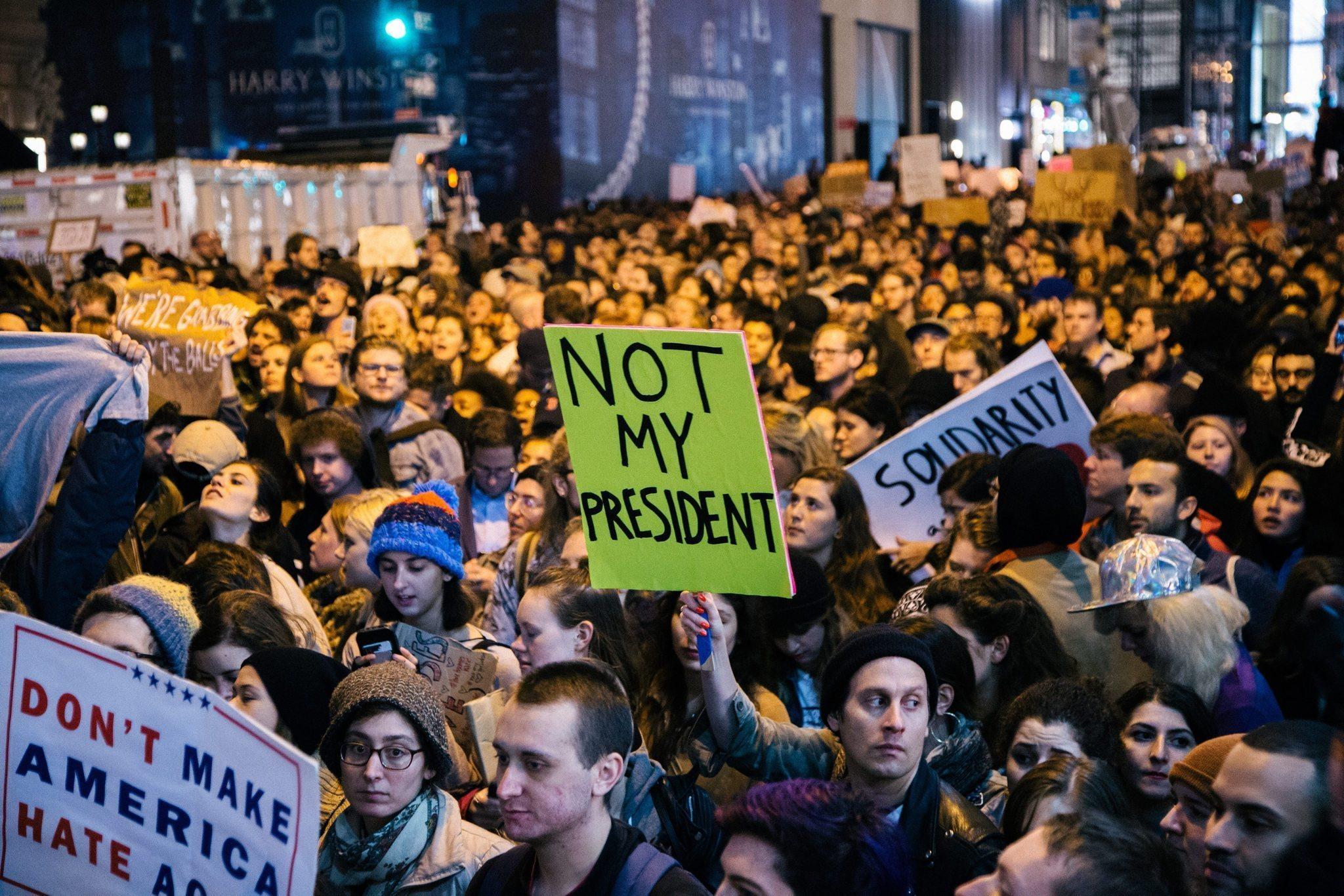 مظاهرات ضد الرئيس الامريكي