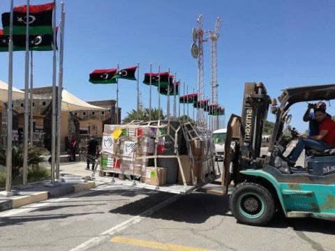 شحنة مساعدات تصل مطار معيتيقة الدولي