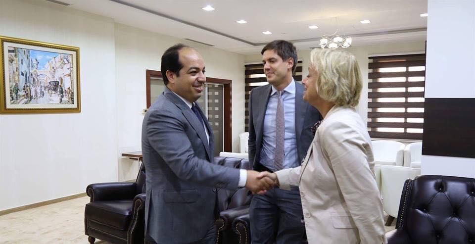 """صورة لدعم الصحة والتعليم ..""""معيتيق"""" يلتقي سفيرة الاتحاد الأوروبي"""
