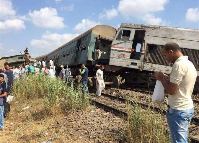 تصادم قطارين بمنطقة خورشيد بالإسكندرية
