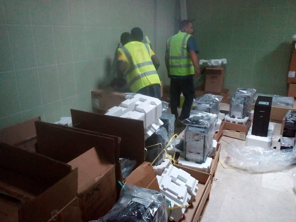 أجهزة UPS من بلدي سبها إلى المركز الطبي