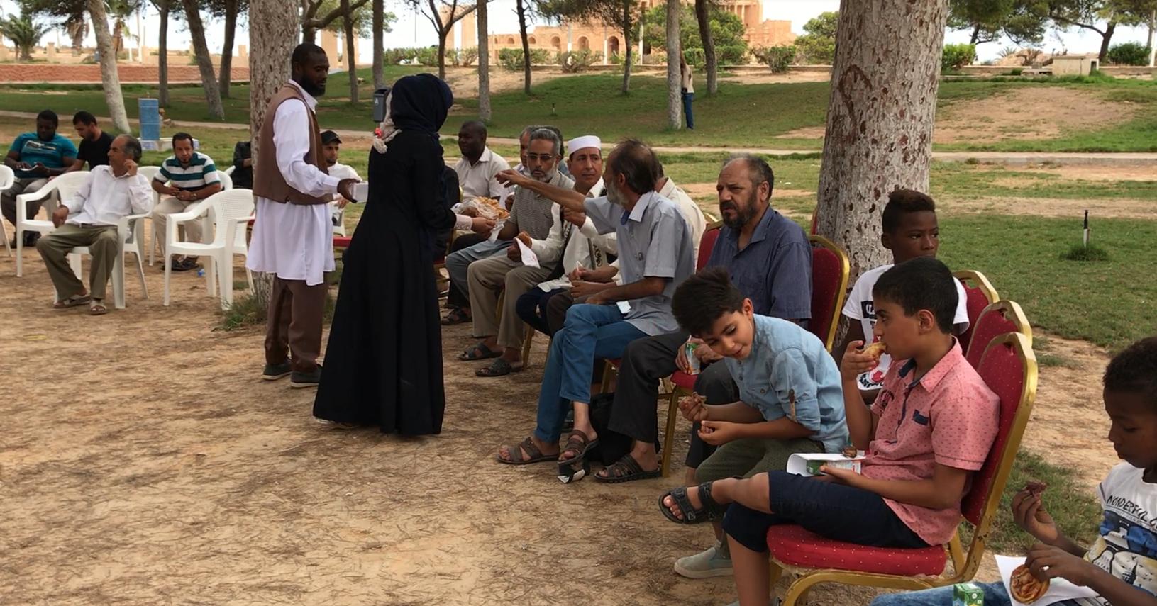 صورة الهيئة العامة للمسرح تحتفل بالعيد في صبراتة