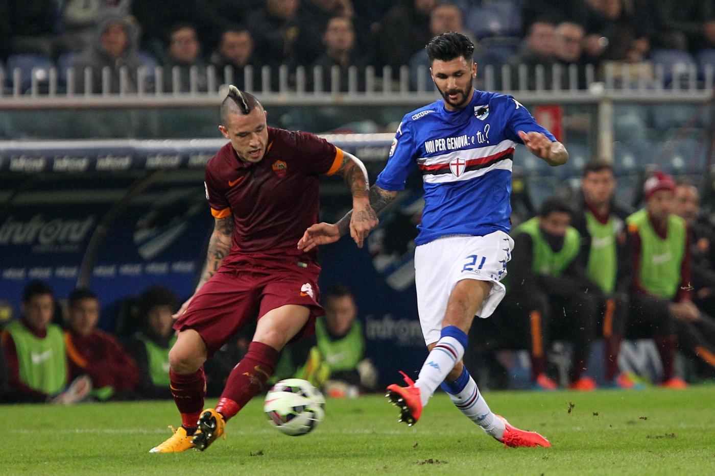 الأمطار تؤجل مباراة سمبدوريا وروما في الدوري الإيطالي