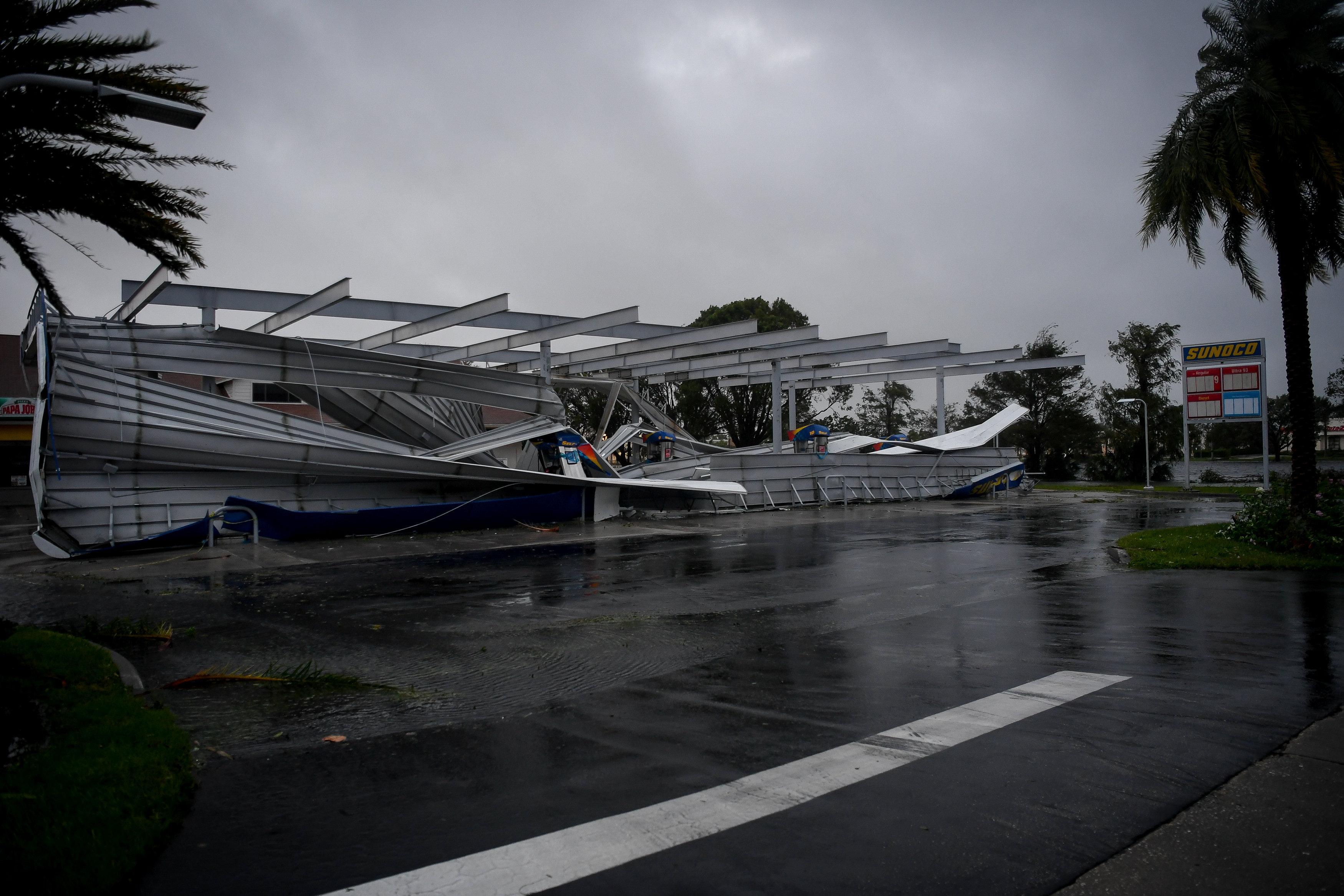 صورة خلال الإعصار