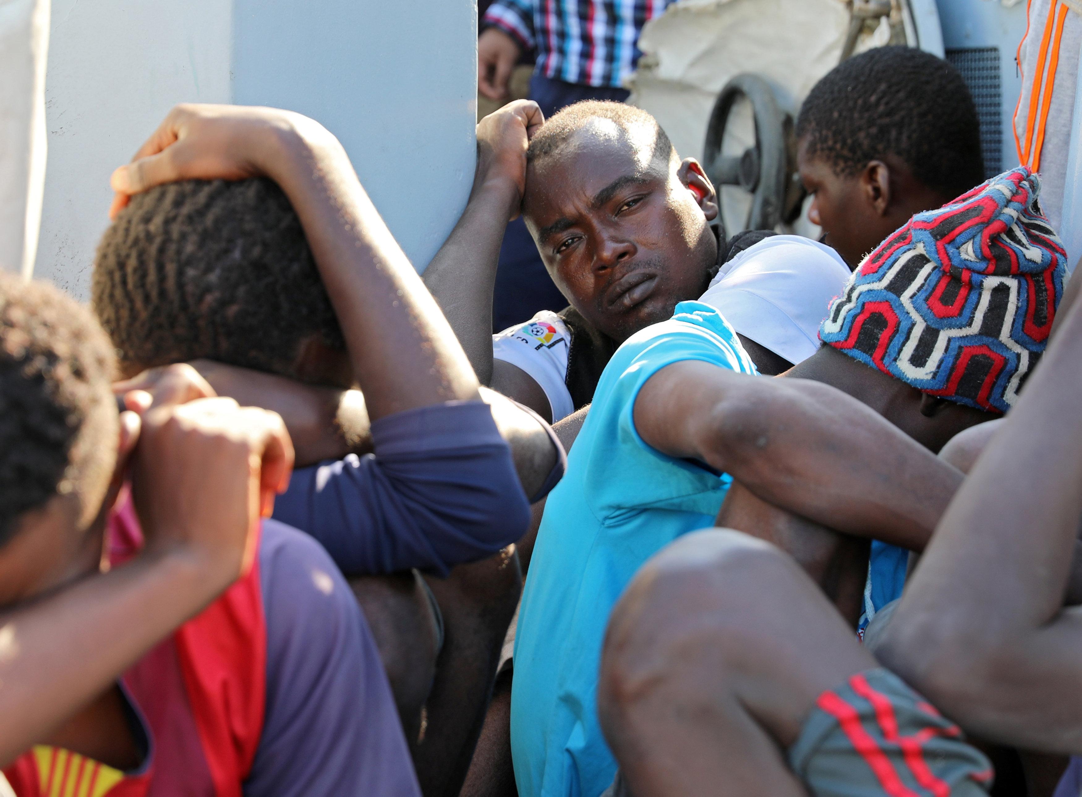 المهاجرين اليبيين