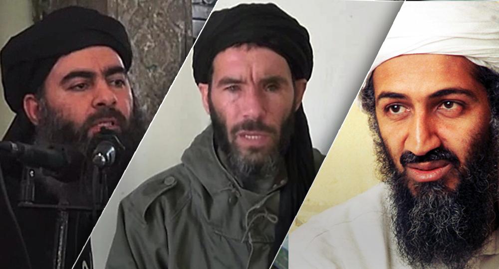 أسامة بن لادن، المختار بالمختار، أبوبكر البغدادي